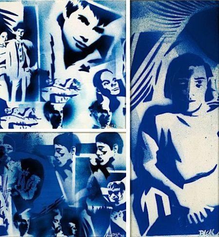 Blek le Rat-Sans titre (Andy Warhol's Factory)-1986
