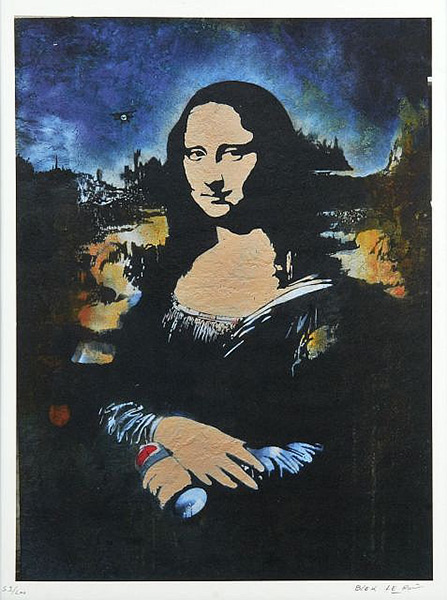 Blek le Rat-Spray Can Mona Lisa-