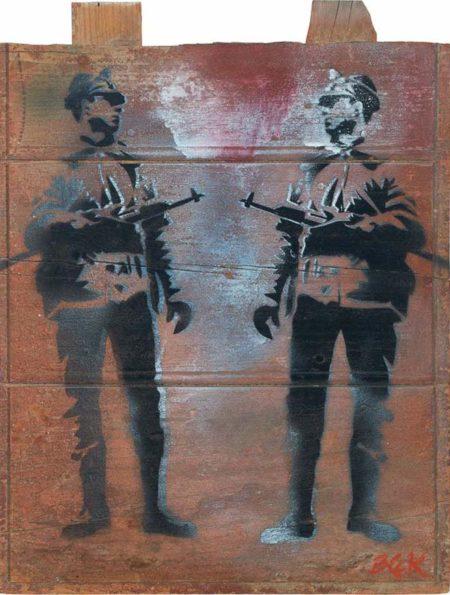 Blek le Rat-Untitled (Soldiers)-