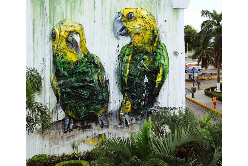 Bordalo II did a service to both art fans and the environment