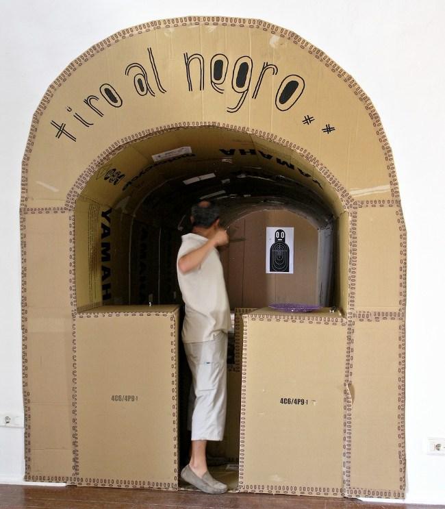 Boris Hoppek - Shoot the Black, 2007 (86 Negritos Exhibition View) - Copyright Boris Hoppek