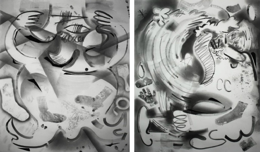 Brian Scott Campbell - Click Clack, 2015 (Left)- Meaning of Life, 2015 (Right)