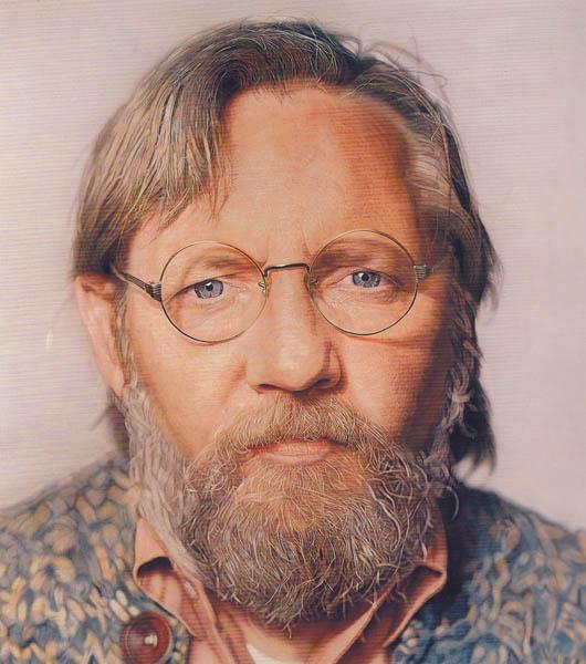 Chuck Close -  John, 1971-72