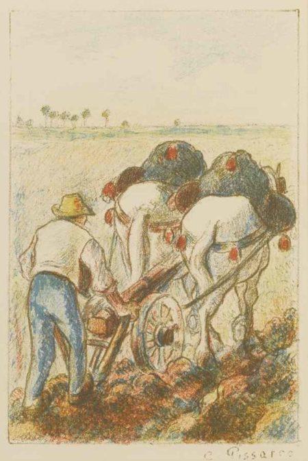 Camille Pissarro-La Charrue-1901