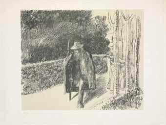 Camille Pissarro-Mendiant a la Bequille-1897