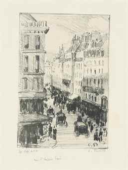Camille Pissarro-Rue Saint-Lazare, Paris-1897