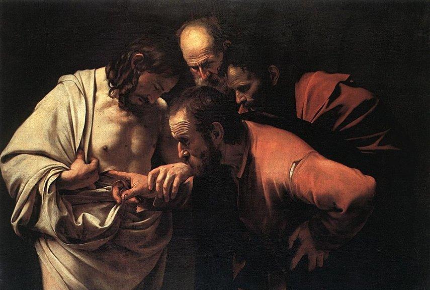 Caravaggio - The Incredulity of Saint Thomas - Image via webartacademycom