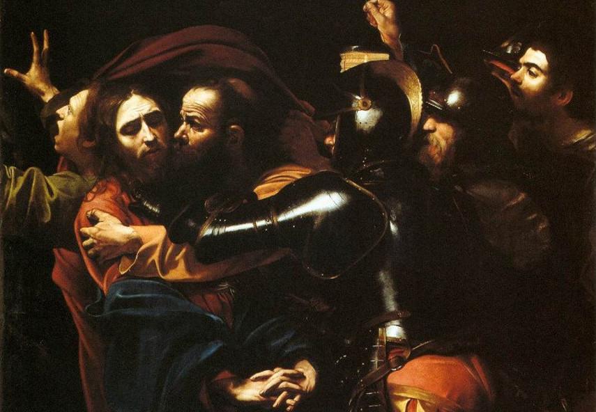 Caravaggio - The Taking of Christ - Image via work head org