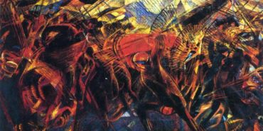 Carlo Carra - Funeral Of The Anarchist Galli, 1911 (detail)