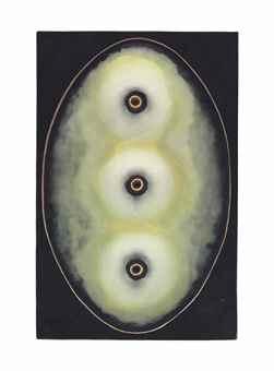 Carole Seborovski-Oval Fetish Object: White Mounds-1993