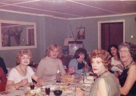 transgender guests having dinner