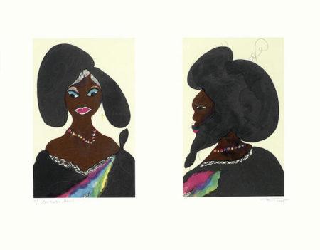 Chris Ofili-Afro Harlem Muses-2005