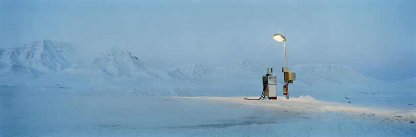 Gasoline Pump In Moonlight, from the Barentsburg series photo world gallery