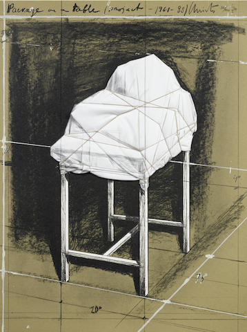 Christo and Jeanne-Claude-Package on a Table Project 1961-1988-1989