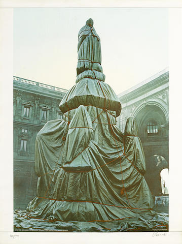 Christo and Jeanne-Claude-Wrapped Monument to Leonardo, Project for Piazza della Scala, Milan-1971