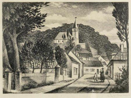 Christopher R. W. Nevinson-French Village-1929