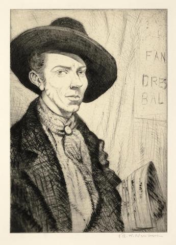 Christopher R. W. Nevinson-Geoffrey 'Badger' Moody-1922