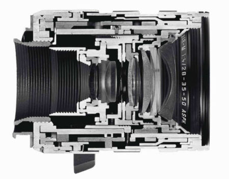 Christopher Williams-Cutaway of a LEICA TRI-ELMAR-M 28-35-50 mm f/4 ASPH.-2009