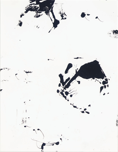 Christopher Wool-Drawings for Beer on the Wall #34-2004
