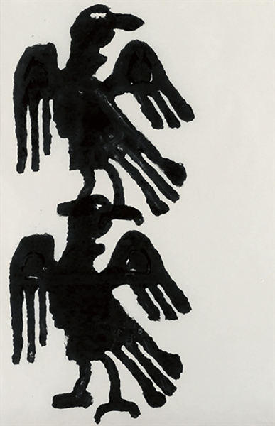 Christopher Wool-Eagles (One Above Other)-1990