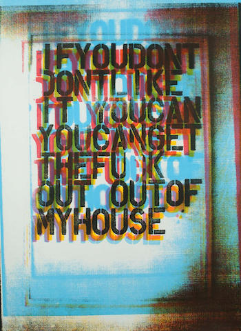 Christopher Wool-My House III-2000