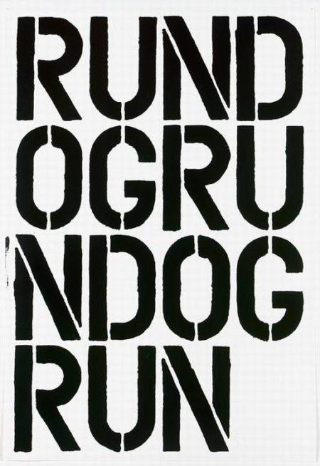 Christopher Wool-Run Dog Run-1990