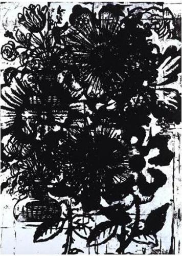 Christopher Wool-Untitled (Black Flower)-1993
