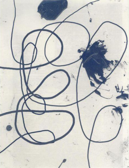 Christopher Wool-Untitled (Blue Curvy Lines)-2008