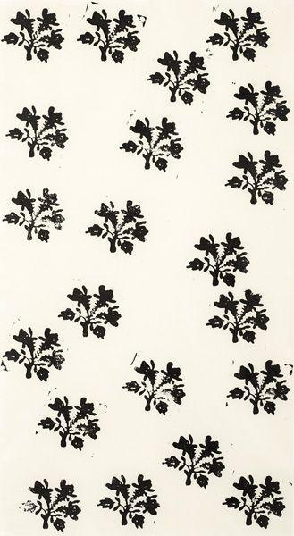 Christopher Wool-Untitled (Flowers Scattered)-1988
