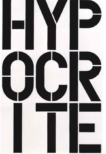 Christopher Wool-Untitled (P126) (HYPOCRITE)-1990