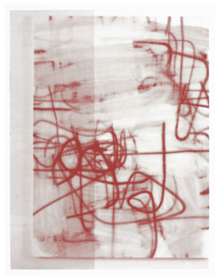 Christopher Wool-Untitled (Red Smears, Unique)-2007