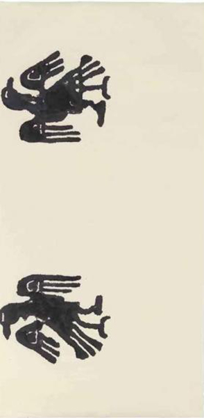 Christopher Wool-Untitled (Two Eagles Opposite Ways)-1990