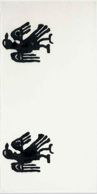 Christopher Wool-Untitled (Two Eagles Sideways)-1990