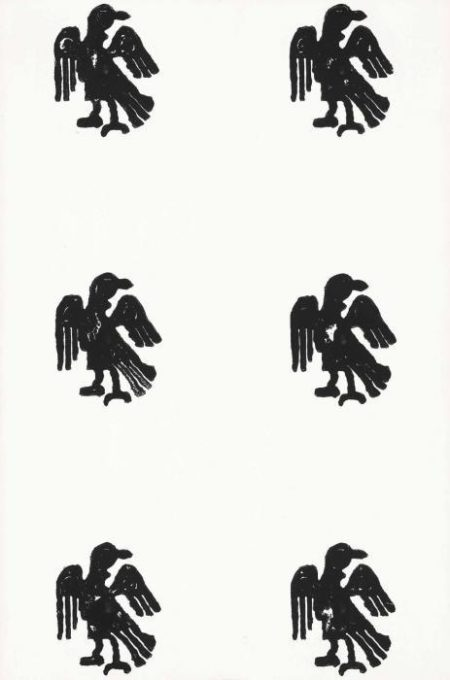 Christopher Wool-Untitled (Wool 1989 on the Reverse, Eagles Grid)-1989