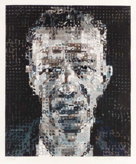 Chuck Close-Alex (Alex Katz)-1991
