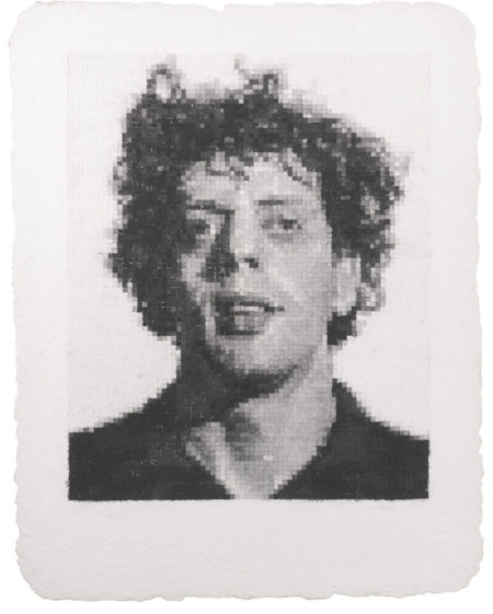 Chuck Close-Phil I (White)-1982