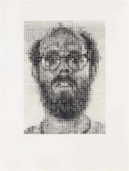 Chuck Close-Self-Portrait (Pernotto 51, Butler Institute 13)-1988