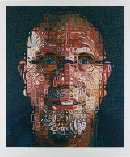 Chuck Close-Self-Portrait-2012