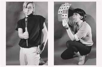Cindy Sherman-Untitled (Male/Female Artist)-1980