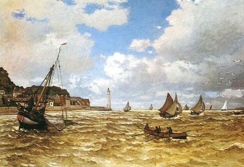 Claude Monet - Mouth of the Seine at Honfleur, 1865