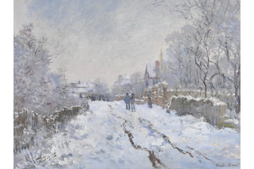 Claude Monet - Snow Scene at Argenteuil, 1875