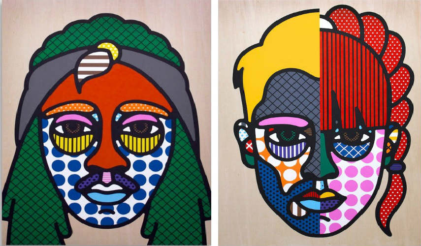 Craig - D'Angelo, 2013 (Left) - Tim and Ebony, 2013 (Right) Images courtesy of The Garage Amsterdam karl it's