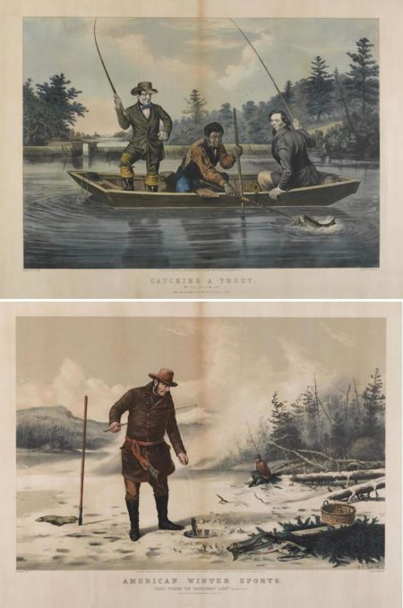 Currier & Ives-Currier & Ives (Publishers) - Catching a Trout; American Winter Sports: Trout Fishing-