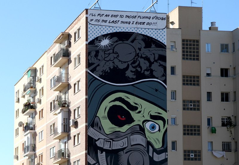 DFace - Damn Those Flying D-Dogs - Malaga, Spain, 2013 - detail