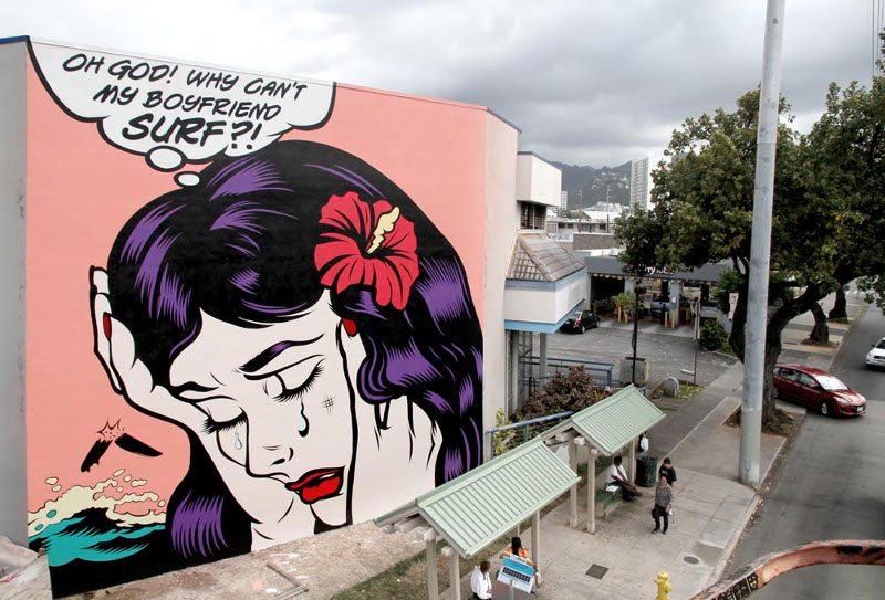 DFace - Oh God, Why Can't My Boyfriend Surf - Honolulu, Hawaii, 2015 - 1