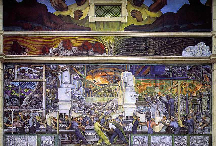 What is narrative art widewalls for Diego rivera creation mural