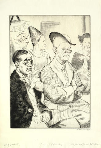 Dame Laura Knight-Some Clowns-1930