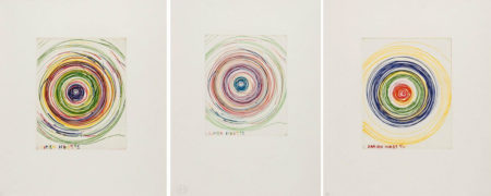 Damien Hirst-Beautiful Exotic Stretching Etchy Spinning Void Etching-1995