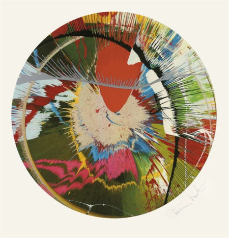 Damien Hirst-Beautiful, Galactic, Exploding-2001