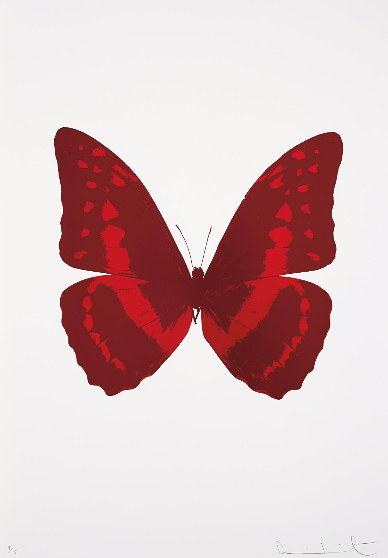 Damien Hirst-Burgundy, Chili Red, From The Souls III-2010